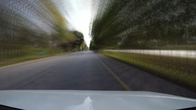 Driving speed on the road countryside (fast speed) stock footage