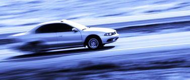 Driving a Speedy Car Stock Images