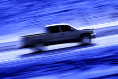 Driving a Speedy Truck Stock Images