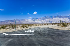 Driving SR 190 thru the Death Valley in the small Panamint valle Royalty Free Stock Images