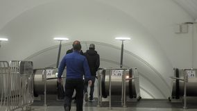 Driving stairs, metro, airport, shopping center stock video footage