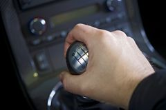 Driving Stick Shift Stock Image