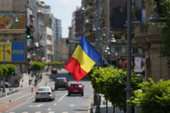 Driving on the streets of Bucharest Stock Images