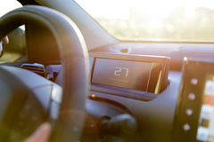 Driving in the summer sun. Ride out to meet the summer feeling by care Royalty Free Stock Image