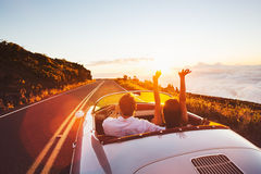 Driving into the Sunset Stock Photography