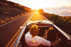 Driving into the Sunset Royalty Free Stock Image