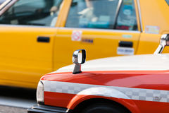 Driving Taxi in Tokyo Royalty Free Stock Photos