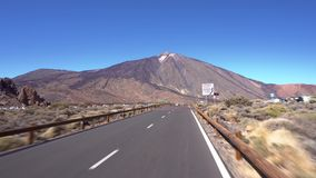 Driving on Teide national park, Tenerife, Canary islands. stock video