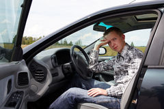 After the driving test Royalty Free Stock Photo