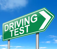 Driving test concept. Stock Image