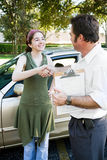 Driving Test Handshake Royalty Free Stock Photo