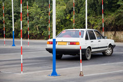 The driving test training field Royalty Free Stock Image