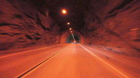 Driving though a tunnel - Time Lapse - Take 3. Time Lapse of driving through a tunnel.  Shot using a Nikon D300S stock video footage
