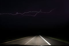 Driving into the Thunderstorm Royalty Free Stock Image