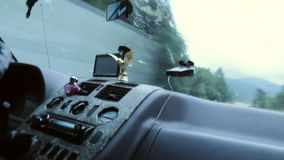 Driving time lapse, speeding, view from the passenger seat. Stock footage stock video