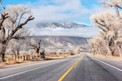 Driving to Bishop, California Stock Image