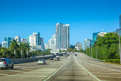 Driving to Miami Florida Stock Photography