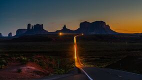 Free Driving To Monument Valley Stock Photography - 182708012