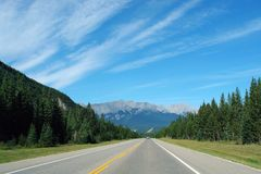 Driving to rockies Stock Image