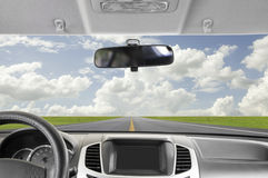Driving to sky stock images