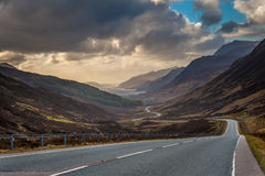 Driving to Torridon Royalty Free Stock Photo