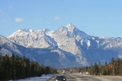 Driving to the west. Jasper national park, northern way to british columbia and vancouver Stock Images