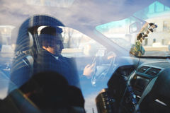Driving to work Royalty Free Stock Image