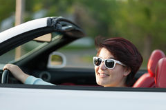 Driving with the Top Down Royalty Free Stock Photography