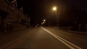 Driving towards Carnarfon through y Felinheli in Gwynedd - Wales. UK stock footage