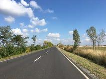 Driving towards Hortobagy National Park. In Hungary Royalty Free Stock Image