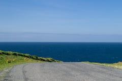 Driving towards the very ocean 2. Driving towards the very ocean, the atlantic ocean Royalty Free Stock Photos