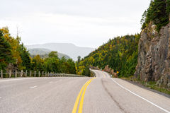 Driving on Trans-Canada Highway Royalty Free Stock Image