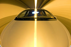 Driving in a Tunnel Stock Image