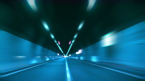 Driving through tunnel blur and glow. Driving through tunnel, abstract with motion blur and glow stock video footage