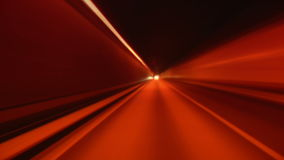 Driving through tunnel blur and glow. Driving through tunnel, abstract with motion blur and glow stock video