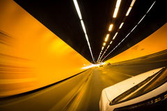 Driving through tunnel royalty free stock photos