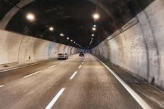 Driving in a tunnel Royalty Free Stock Image