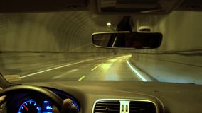 Driving through tunnel, Lofoten Islands. Norway stock video