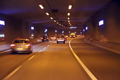 Driving through a tunnel in Netherlands Royalty Free Stock Image