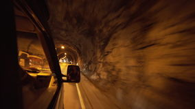 Driving through a tunnel stock footage