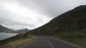 Driving on two lane road in South Africa. View from car mounted camera.  stock video footage