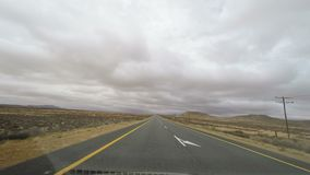 Driving on two lane road in South Africa. View from car mounted camera.  stock video