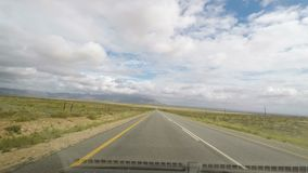 Driving on two lane road in South Africa. View from car mounted camera.  stock footage