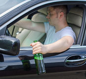 Driving Under the Influence. Stock Photo