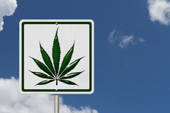 Driving Under the Influence of  Marijuana Stock Photo