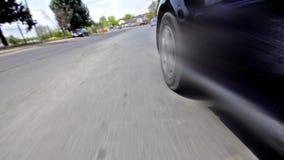 Driving on urban road. Driving Timelapse Close. Rough speeding through urban town street: HQ 1080P RGB 4:4:4 - Stock Video stock video footage