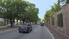 Driving US1 Miami stock video. Drivers pov of US1 South Dixie Highway stock footage