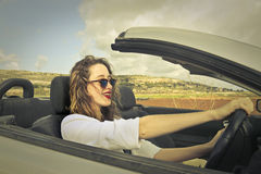 Driving on vacation Stock Photos