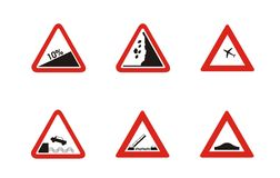 Driving Warning icons Royalty Free Stock Photos