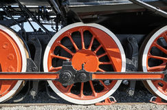 driving wheel of the historic steam locomotive Royalty Free Stock Image